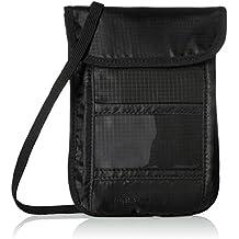 AmazonBasics - Portadocumentos de Viaje para Colgar con tecnología RFID