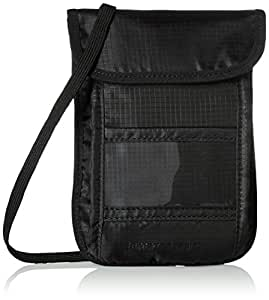 AmazonBasics RFID Blocking Travel Neck Sling Wallet, Black