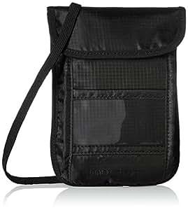AmazonBasics - Borsello da viaggio con protezione RFID, da portare al collo - Nero