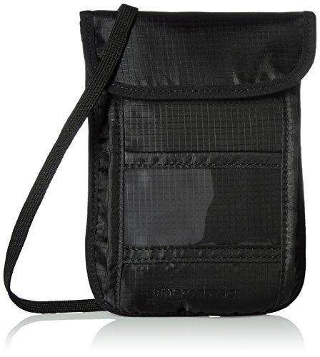 AmazonBasics RFID Reise Brustbeutel, Schwarz (Tasche Scratch-karte)