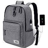 AUGUR Rucksack Backpack USB Unisex Daypack 15.6 Zoll Laptop Tasche Herren und Da...