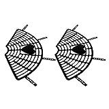 Baoblaze Piastra di Protezione Sedile Posteriore Bicicletta Rete di Sicurezza Accessori - Nero