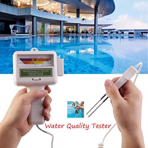Wokee Digital Wasserqualität Tester Wasser Tester mit PH CL2 Chlor Level Meter Wasserqualität Tester Test Monitor Schwimmbad Spa Temperatur Meter Wasser Tester Gerät
