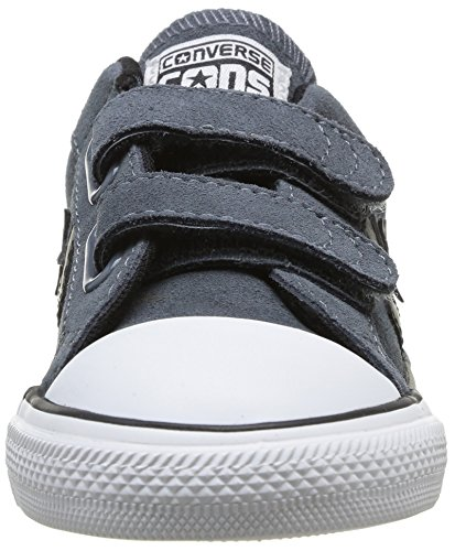 Converse Star Player Enfant 2v Suede Ox, Unisex-Kinder Hohe Sneakers Grau (122 Anthracite)