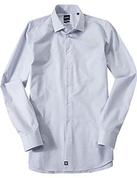 Strellson Premium Herren Hemd Baumwolle & Mix Modisch Kariert, Größe: 40, Farbe: Blau