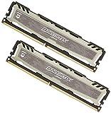 Ballistix Sport LT 8 GB Kit (4 GBx2) DDR4 2400 MT/s (PC4-19200) Single Rank x8 DIMM 288-Pin, Grigio, BLS2C4G4D240FSB