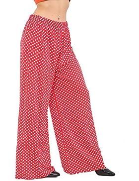 Islander Fashions Womens Polka Dot Baggy Palazzo Trouser Ladies Fancy Party Wear Pantalones anchos S/XXXL