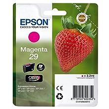 Epson Claria No.29 Home Strawberry Standard Ink Cartridge, Magenta, Genuine, Amazon Dash Replenishment Ready
