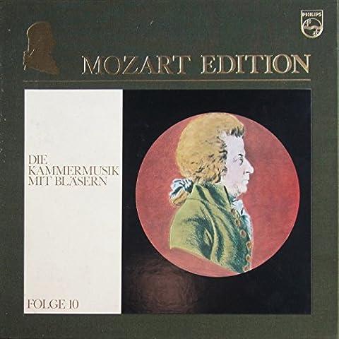 Mozart Edition, Folge 10 (Kammermusik III): Die Kammermusik mit Bläsern [Vinyl Schallplatte] [4 LP Box-Set]