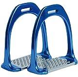 AMKA Aluminium Steigbügel 12 cm Aluminiumsteigbügel Farbe: blau | Steigbügel Alu extra leicht |Aluminium Stirrups PAIR