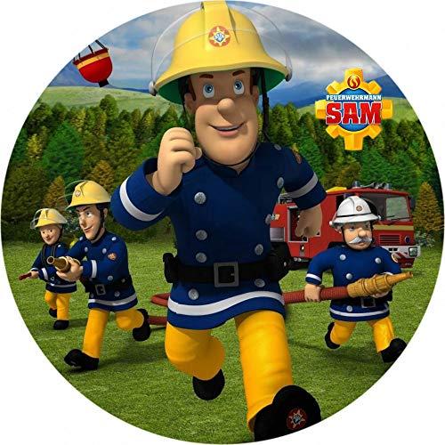 Feuerwehrmann Sam Runde Tortenaufleger