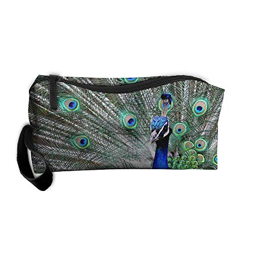 Noble Peacock Lightweight Makeup Bag Organizer Case Travel Cosmetic Bags Pencil Case