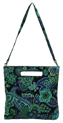 vera-bradley-holiday-borsa-porta-libro-con-fiori-stilizzati-colore-blu