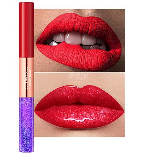 SCEMARK Damen Lippenstift Double-End-Perle für dauerhafte Polarisation Und Matte wasserdichte Lippen Lippenstift Make-up