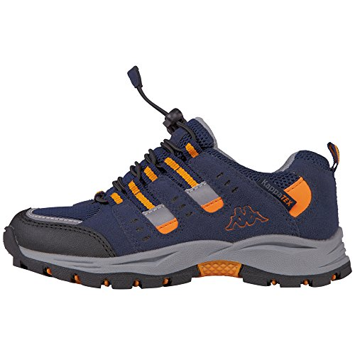 Kappa Unisex-Kinder Storm Tex Kids Low-Top Blau (6744 navy/orange)