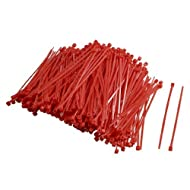 Water & Wood 2.5 x 100mm Red Adjustable Self-locking Nylon Cable Ties 500 Pcs