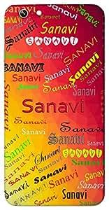 Sanavi (Sanvi, Goddess Lakshmi) Name & Sign Printed All over customize & Personalized!! Protective back cover for your Smart Phone : Asus Zenfone 2 Lasse ZE601KL