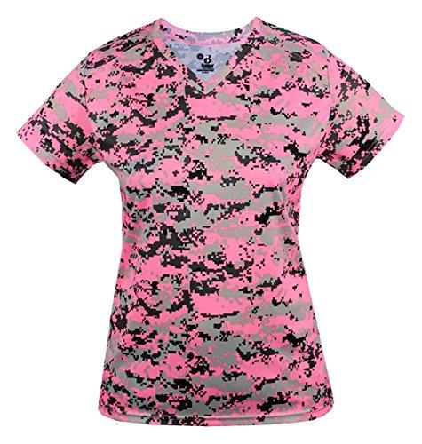 Badger - T-shirt de sport - Femme Multicolore - Pink Digital