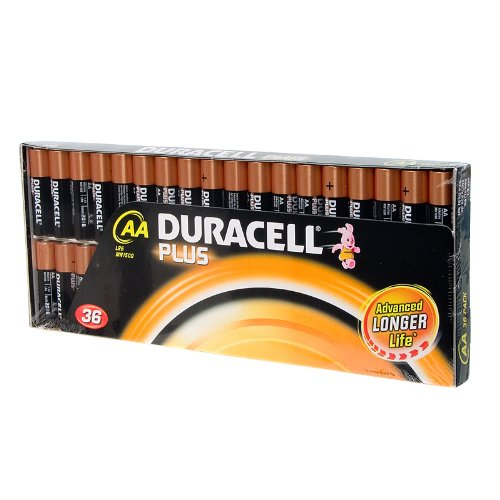 Price comparison product image Duracell Plus AA Batteries Pack Of 36