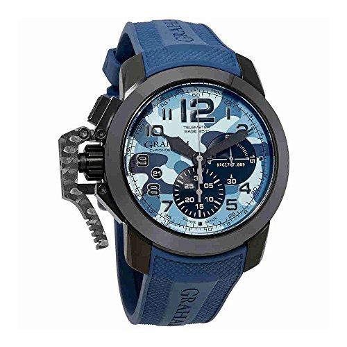 Graham Chronofighter - Reloj para hombre, diseño de flecha, color negro, automático, azul camuflaje, 2CCAU.U02A.K96N