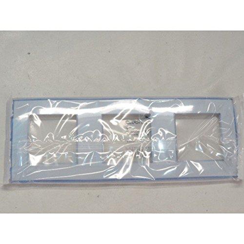 plaque-triple-transparente-bleute-3-postes-entraxe-71mm-horizontale-ou-verticale-aqua-finition-paste