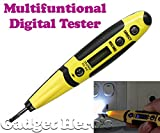 #9: Gadget Hero's Multifunctional Digital Tester Pocket Pen 12-250V AC DC Voltage Detector With LED Torch Light