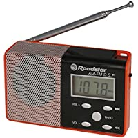 Roadstar TRA-2395/P/RD - Radio portátil (digital, AM, FM, 1.2 W, LCD, 93 mm) rojo