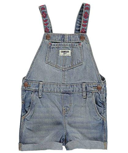 OSHKOSH B'gosh kurze Latzhose Shorts Sommer Baby Hose Mädchen Jeans girl (24 Monate, blau) (Kinder-shorts Oshkosh)