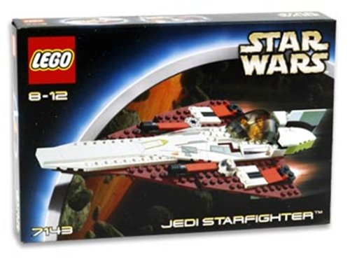 2002 Lego-sets (LEGO 7143 - Star Wars Jedi Starfighter TM, 138 Teile)