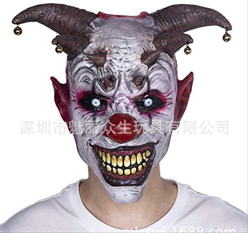 dhude Latex-Maske Maske Rolle Spielen Seltsame Spielzeuge Maske Horror Bell Clown Latex Head Set Halloween Masquerade Performance Props Carnival Party Maske Maske