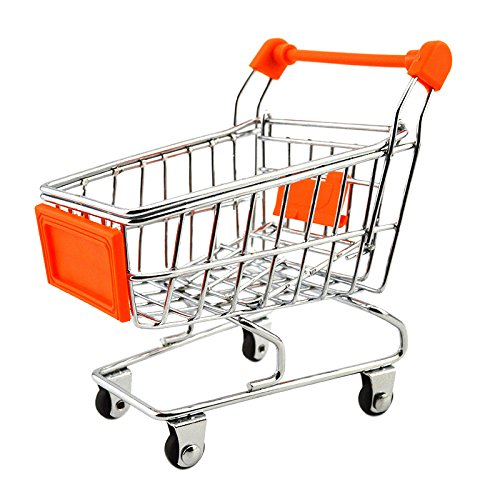 Spielzeug - SODIAL(R)Spielzeug Mini Warenkorb fuer Kinder 11 x 8 x 11.5 cm Orange