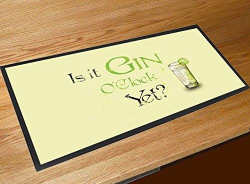 """Bar-Tischmatte mit Aufschrift """"Is it Gin O'Clock Yet?"""""""