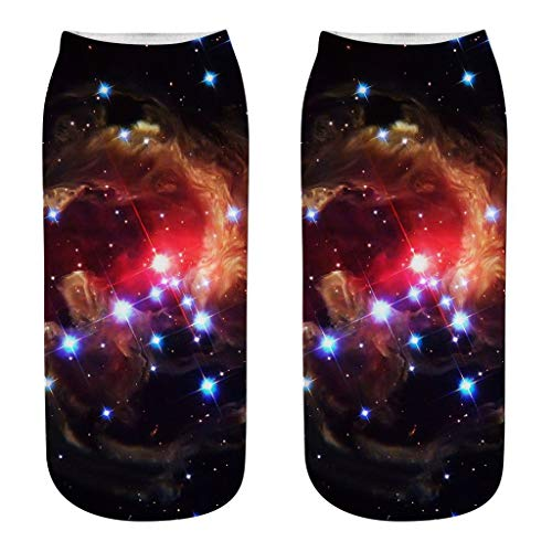 Super 60 Quarter Socken (TMOTYE Damen Socken 3D Cosmic Planets Motivsocken Bunt Unisex Ankle Sock Bunt Muster Socken Classic Casual Socken Lässige Baumwolle Socken)