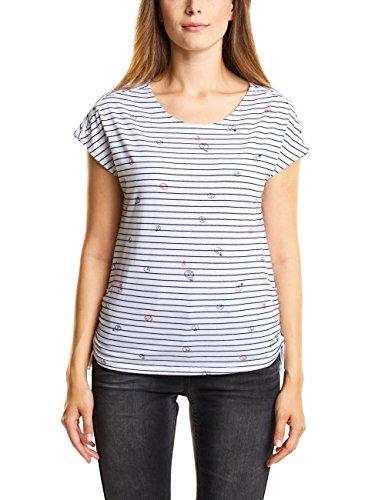 Cecil Damen 312228 T-Shirt, Weiß (White 30000), Medium