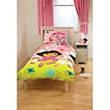 Kids/Childrens Dora the Explorer Bedding Duvet/Quilt Cover Set (Single Bed) (Pink)