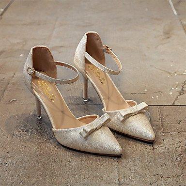 Zormey Frauen Heels Ankle Strap Leder Hochzeit Büro & Amp; Karriere Party & Amp; Abendkleid Stiletto Heel Bowknot Wanderschuhe US6.5-7 / EU37 / UK4.5-5 / CN37