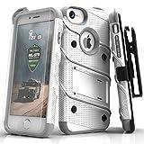 Zizo BOLT-IPH7-WHGR Schutzhülle für Apple iPhone 8/7/6S/6 mit Displayschutzfolie, 11,93 cm (4,7 Zoll) Weiß