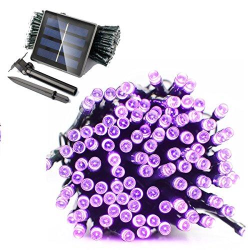 WINLINK Solar angetriebene LED-Schnur-Lichter, 200LED 22m 8 Modi wasserdichte Ambiancebeleuchtung für im Freien / Patio / Rasen / Landschaft / feenhafter Garten / Hauptseite / Hochzeit / Feiertag / Weihnachtsfest (Diy Kostüm Lila Fee)