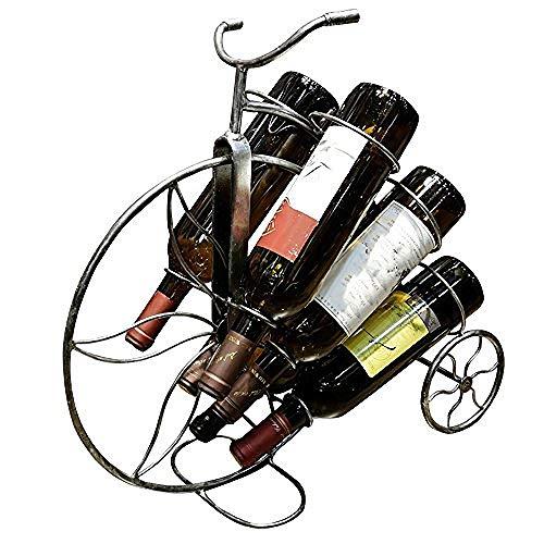 egal 6 Flaschen britische Schmiedeeisen Fahrrad Flaschenhalter Arbeitsplatte Dekoration Geschenk Kunst Büro ()