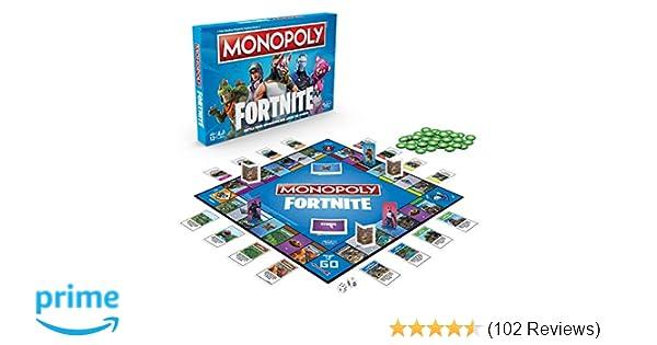 Monopoly E6603102 Fortnite Edition Board Game Multi Color Amazon