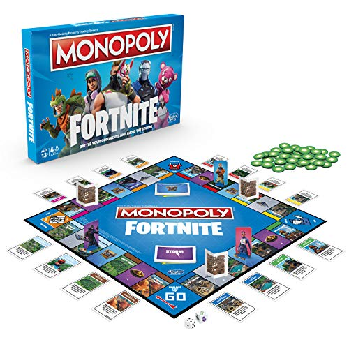 Monopoly E6603102 Fortnite Edition Board Game, Multi-Color