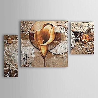 Dipinti a mano olio pittura floreale Calla Lily Set di 3 (Calla Kit)