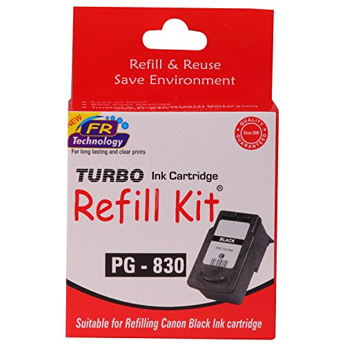 Turbo Refill Kit for Canon PG 830 Black Ink Cartridge  available at amazon for Rs.252