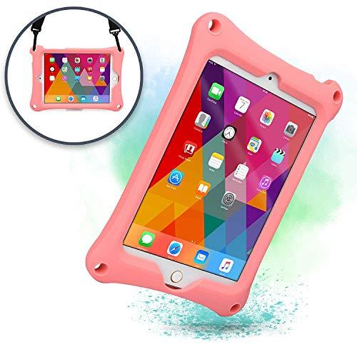 Apple iPad Mini 4 3 2 1 Schutzhülle Tragegurt Cooper Bounce Strap Tragehülle mit verstellbarem Standfuß, robust, stoßfest & sturzfest - für Erwachsene & Kinder (Rosa)