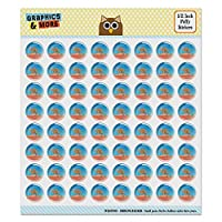 Kangaroo Hopping in The Australian Outback Puffy Bubble Dome Scrapbooking Crafting Sticker Set