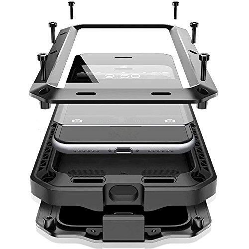 Mrsmr custodia iphone x, protezione a 360 gradi cover impermeabile, antipolvere, anti urti, heavy duty copertura di caso protettivo con lo schermo in vetro temperato per iphone x / iphone 10 nero