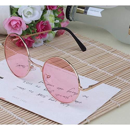 YOGER Sonnenbrillen Frauen Multi-Color Runde Sonnenbrille Golden Frame Brille Shades Hippie Lennon Vintage Steampunk Unisex Männer Uv400 Sonnenbrille