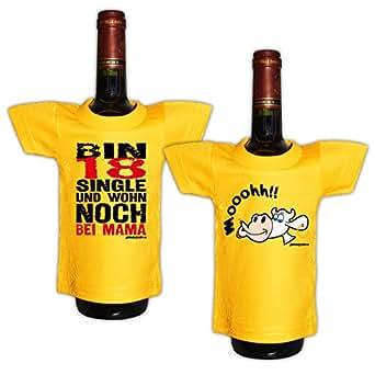Mini T-Shirt für die Flasche <-> Geburtstag Neujahr <-> New Year Sylvester Geschenk Sekt Wein