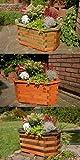Deko-Shop-Hannusch Pflanzkasten, Blumenkasten, Blumenkübel aus massivem Holz, für den Garten (ohne Blumen), Farbe:Braun