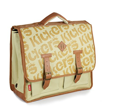 Kickers Cartable 15 L, Camel/Surimpression